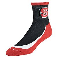 Men's North Carolina State Wolfpack Grip the Turf Quarter-Crew Socks