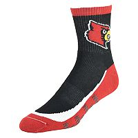 Men's Louisville Cardinals Grip the Turf Quarter-Crew Socks