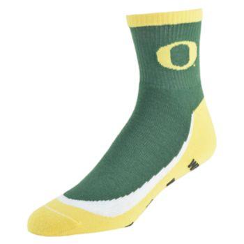 Men's Oregon Ducks Grip the Turf Quarter-Crew Socks