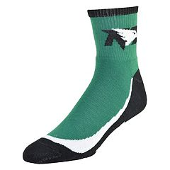Men's North Dakota Fighting Hawks Grip the Turf Quarter-Crew Socks