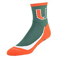 Men's Miami Hurricanes Grip the Turf Quarter-Crew Socks