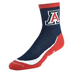 Men's Arizona Wildcats Grip the Turf Quarter-Crew Socks