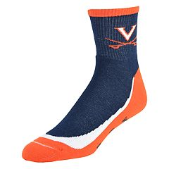 Men's Virginia Cavaliers Grip the Turf Quarter-Crew Socks