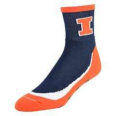 Men's Illinois Fighting Illini Grip the Turf Quarter-Crew Socks