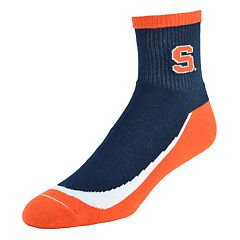 Men's Syracuse Orange Grip the Turf Quarter-Crew Socks