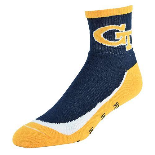 Men's Georgia Tech Yellow Jackets Grip the Turf Quarter-Crew Socks