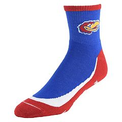 Men's Kansas Jayhawks Grip the Turf Quarter-Crew Socks