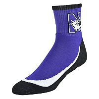 Men's Northwestern Wildcats Grip the Turf Quarter-Crew Socks