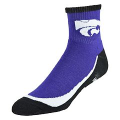 Men's Kansas State Wildcats Grip the Turf Quarter-Crew Socks
