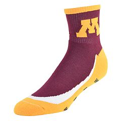 Men's Minnesota Golden Gophers Grip the Turf Quarter-Crew Socks