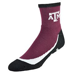 Men's Texas A&M Aggies Grip the Turf Quarter-Crew Socks