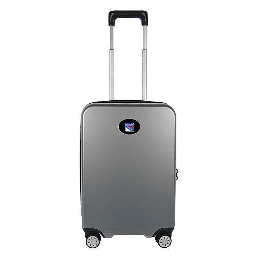 New York Rangers 22-Inch Hardside Wheeled Carry-On with Charging Port