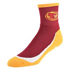 Men's Iowa State Cyclones Grip the Turf Quarter-Crew Socks
