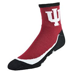 Men's Indiana Hoosiers Grip the Turf Quarter-Crew Socks