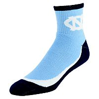 Youth North Carolina Tar Heels Grip the Turf Quarter-Crew Socks