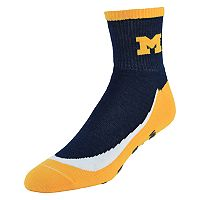 Youth Michigan Wolverines Grip the Turf Quarter-Crew Socks