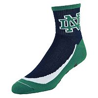 Youth Notre Dame Fighting Irish Grip the Turf Quarter-Crew Socks