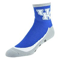Youth Kentucky Wildcats Grip the Turf Quarter-Crew Socks