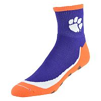 Youth Clemson Tigers Grip the Turf Quarter-Crew Socks