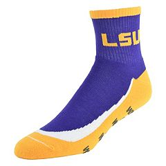 Youth LSU Tigers Grip the Turf Quarter-Crew Socks