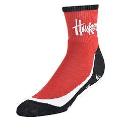 Youth Nebraska Cornhuskers Grip the Turf Quarter-Crew Socks