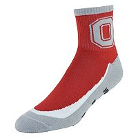 Youth Ohio State Buckeyes Grip the Turf Quarter-Crew Socks