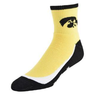 Youth Iowa Hawkeyes Grip the Turf Quarter-Crew Socks