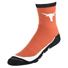 Youth Texas Longhorns Grip the Turf Quarter-Crew Socks