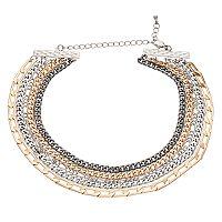 Mudd® Tri Tone Multi Strand Choker Necklace