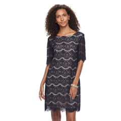 Women's Nina Leonard Lace Dress