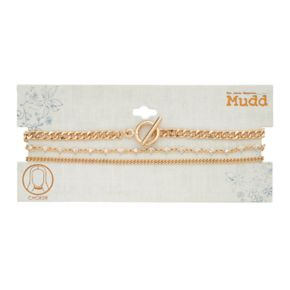 Mudd® Chain, Simlated Crystal Station & Toggle Choker Necklace Set