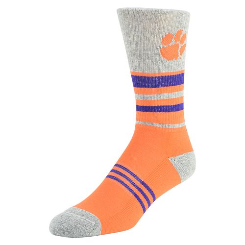 Men's Mojo Clemson Tigers Walk the Line Crew Socks
