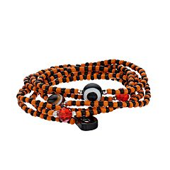 Black & Orange Bead Stretch Bracelet Set