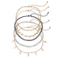 Mudd® Cross Station & Chain Choker Necklace Set