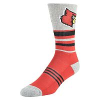 Men's Mojo Louisville Cardinals Walk the Line Crew Socks