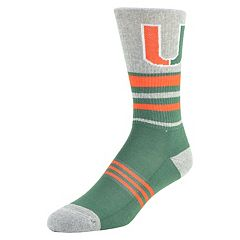 Men's Mojo Miami Hurricanes Walk the Line Crew Socks