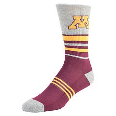 Men's Mojo Minnesota Golden Gophers Walk the Line Crew Socks