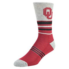 Men's Mojo Oklahoma Sooners Walk the Line Crew Socks