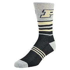 Men's Mojo Purdue Boilermakers Walk the Line Crew Socks
