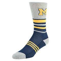 Men's Mojo Michigan Wolverines Walk the Line Crew Socks