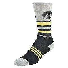 Women's Mojo Iowa Hawkeyes Walk the Line Crew Socks