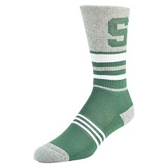 Women's Mojo Michigan State Spartans Walk the Line Crew Socks