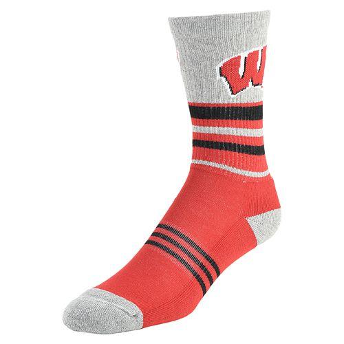 Women's Mojo Wisconsin Badgers Walk the Line Crew Socks