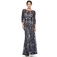 Women's Chaya Scroll Lace Evening Gown