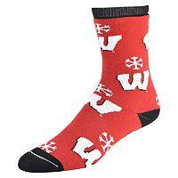 Women's Wisconsin Badgers Snow Dayz Crew Socks