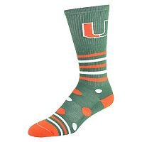 Women's Miami Hurricanes Razzle Knee-High Socks