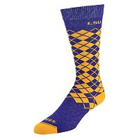 Men's Mojo LSU Tigers Argyle Socks
