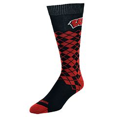 Men's Mojo Wisconsin Badgers Argyle Socks