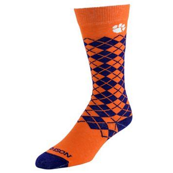 Men's Mojo Clemson Tigers Argyle Socks