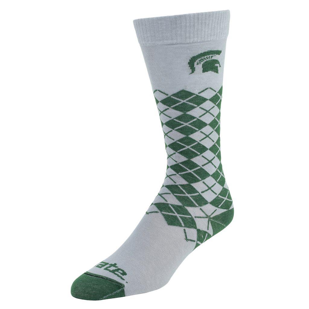 Men's Mojo Michigan State Spartans Argyle Socks